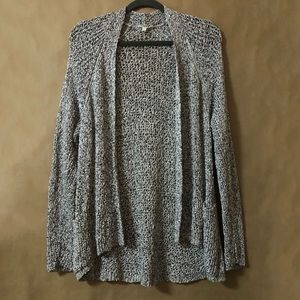 Eileen Fisher | Open Knit Marled Cotton Cardigan